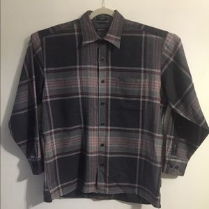 Nautica wool plaid button up. Large